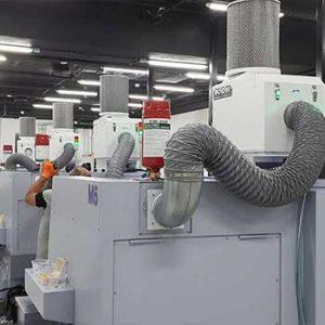 סינון אדי אמולסיה ושמן ממכונות עיבוד שבבי