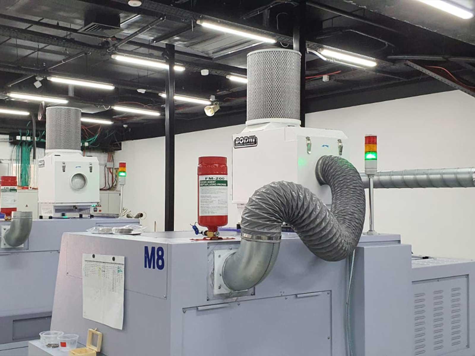 אלפא גייט – סינון אדי אמולסיה ושמן ממכונות עיבוד שבבי