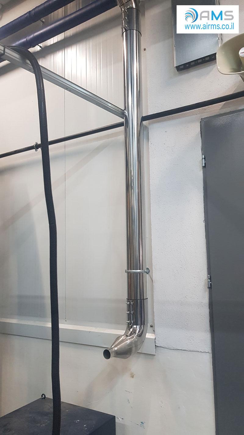 מערכת שאיבת אבק מרכזית מדגם JCH110 לניקיון אולם יצור