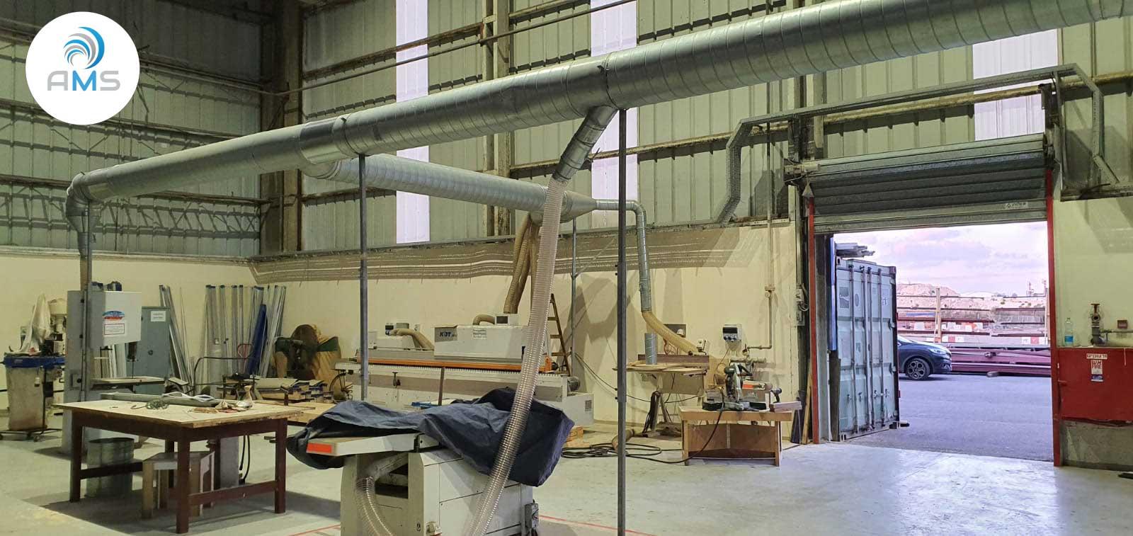 פרויקט מספנות – מערכת שאיבת אבק לנגרייה