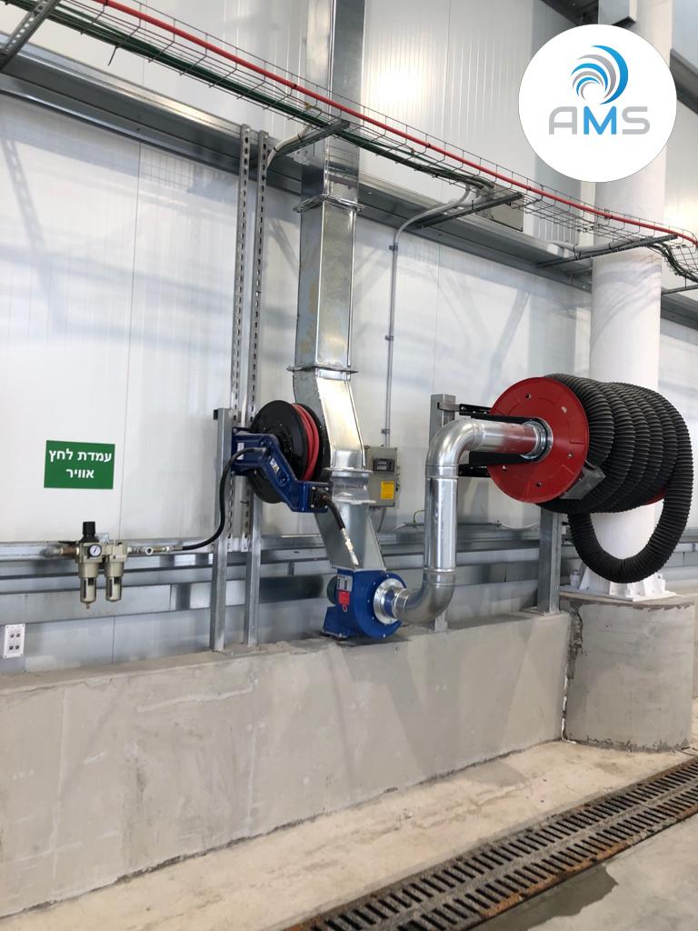 התקנת מערכות שאיבת עשן מכלי רכב למוסך מרכזי – אפקון